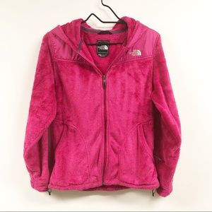 The North Face Hooded Osito Jacket Pink Fleece